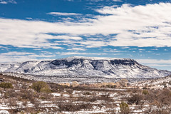 Elephant Mountain in Winter - Brewster County, Texas
