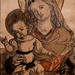 School of Dürer, Madonna and Child, ca. 1520-25, Hand-colored woodcut 12/24/20 #fristartmuseum