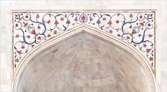 Décor de l'iwan central du Taj Mahal (Agra)
