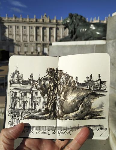Un detalle en la Plaza de Oriente, Madrid.