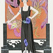 La belle dame sans merci: Robe du soir, de Worth (1921) fashion illustration in high resolution by George Barbier. Original from The Rijksmuseum. Digitally enhanced by rawpixel.