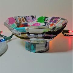 Recycled Cardboard Pedestal Trinket Bowl
