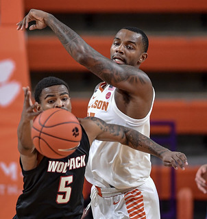 MBB: NC State at No. 19 Clemson Photos