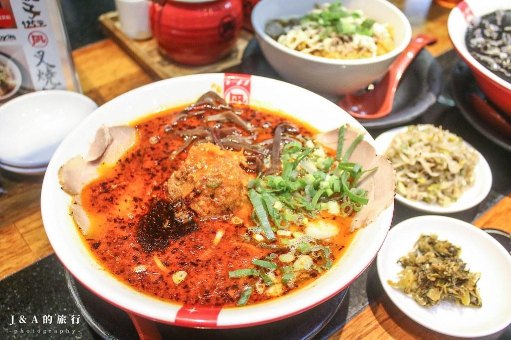 Nagi凪拉麵。來自東京的冠軍拉麵,豆芽菜、辣酸菜吃到飽,每周還會推出限定創意拉麵 @J&A的旅行