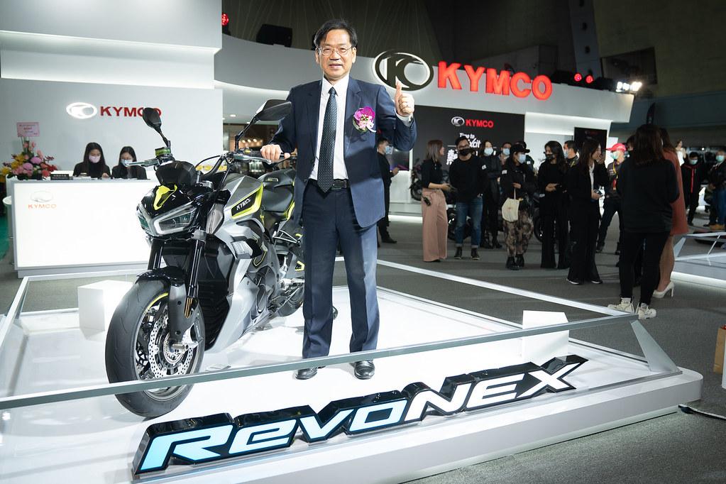 3. KYMCO自發表以來就受到全球矚目的百萬電動重機街跑RevoNEX,首度零距離於2021國際重型機車展與車迷見面