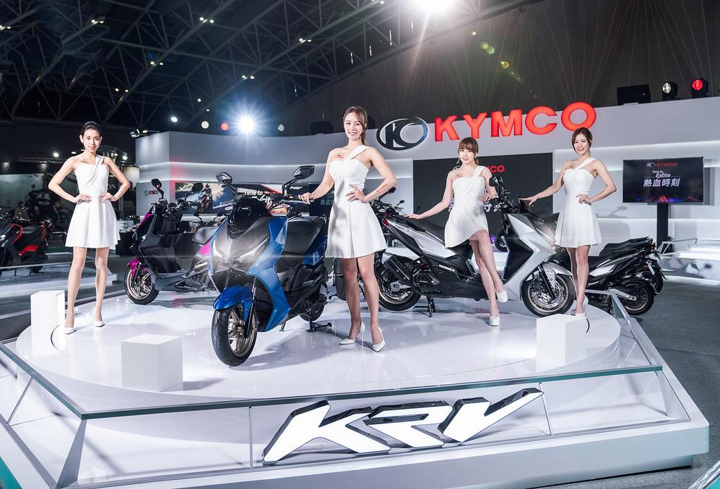 4. KYMCO最強白牌旗艦車款KRV,自發布以來累積的高人氣轉換為驚人的訂單數量,KYMCO預計2月底將突破6000張訂單