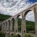 TGV Lyria crossing the Viaduc de Cize-Bolozon