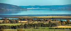 Photo of Beauly Firth and River, and Kessock Bridge, linking Inverness and the Black Isle, from Rheindown, above the town of Beauly.