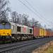 Kaarst CrossRail DE 6309 met containers