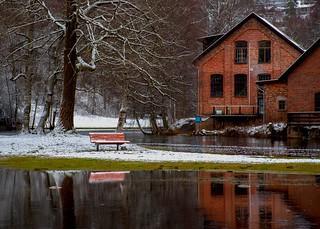 Riverside Winter Scene