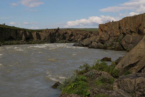 River Skjálfandafljót just below Goðafoss waterfall