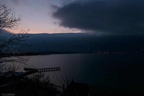 half-day half-night, Lac du Bourget, Savoie