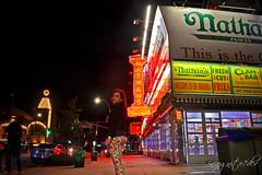 Me at Nathan's Coney Island + Stillwell Ave Subway Station Brooklyn New York City NY P00770 DSC_3263