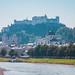 Salzburg Castle with Salzach River in Salzburg in Austria-2