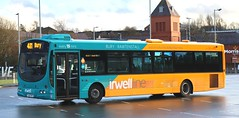Photo of Transdev Rosso 1732 YJ07PCY departing from Blackburn Bus Station for Bury on 'Irwell Line' duties.