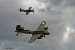 Photo of B17G Sally B escorted by P-51D Mustang 'The Shark', KH774, G-SHWN