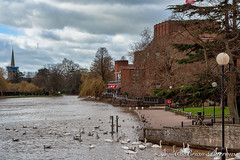 Photo of Holy Trinity Church and RSC Theatre at Stratford upon Avon