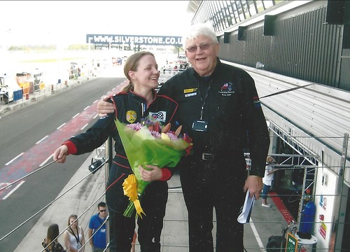 Brian Jones and Emma Karwacki celebrate her championship win in 2011