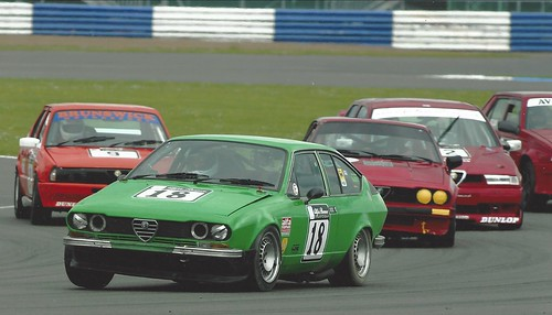 Nev Simpson leads a group at Silverstone 2005