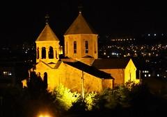Church in Yerevan by night