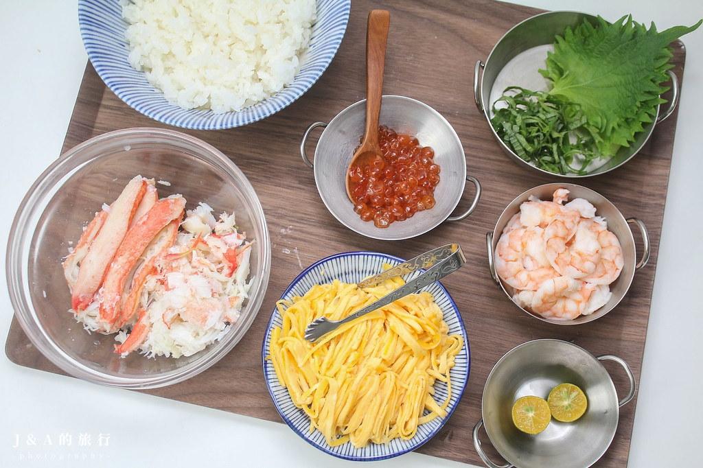 【食譜】海鮮散壽司,醋飯做法分享 @J&A的旅行