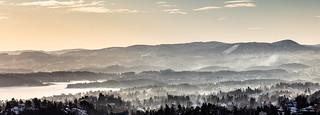 Januar mist on the fjord