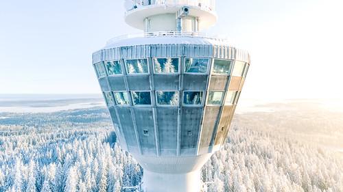 Puijon torni todella kylmä keli