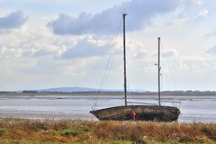 Photo of Boat on the beach at Lytham Lancashire