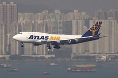 N472MC, Boeing 747-400BDSF, Atlas Air, Hong Kong