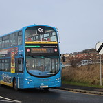 Go North East Coaster Volvo B5LH Wright Eclipse Gemini II 6057 | NK62 CCV seen on Riverside Way working a 1B to Whitley Bay