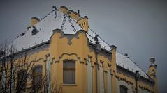 Gymnázium, Grösslingová 18 in the snow.