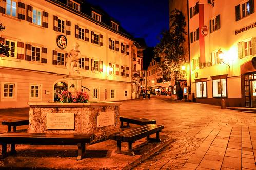 Zell am See at night