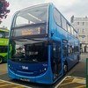 Vectis Blue 1520 is parked in Ryde Bus Station before leaving on route 9 to Newport via Wootton and Medina. - HW62 CEJ - 31st July 2020