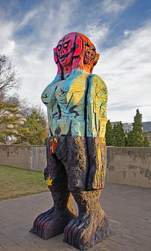 'We Come in Peace' (2018) by Huma Bhabha -- Hirshhorn Sculpture Garden SW Washington (DC) December 2020