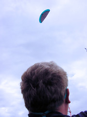 """Photo of Brian Flying The Flexifoil 3.5m² """"Bullet"""", West Sands, St. Andrews"""