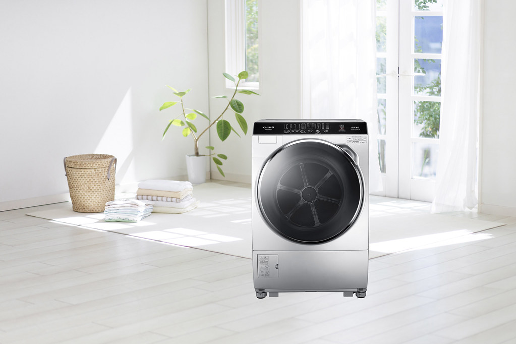 8-CHIMEI輕柔淨美滾筒洗衣機搭載全智能洗淨科技,能夠自動偵測衣物重量級環境溫度,調整最佳洗衣行程,冬季氣溫較低衣物油漬較難清洗,以柔力洗淨技術,使用30°、40°溫水浸泡,給予衣物猶如SPA般的溫柔呵護。