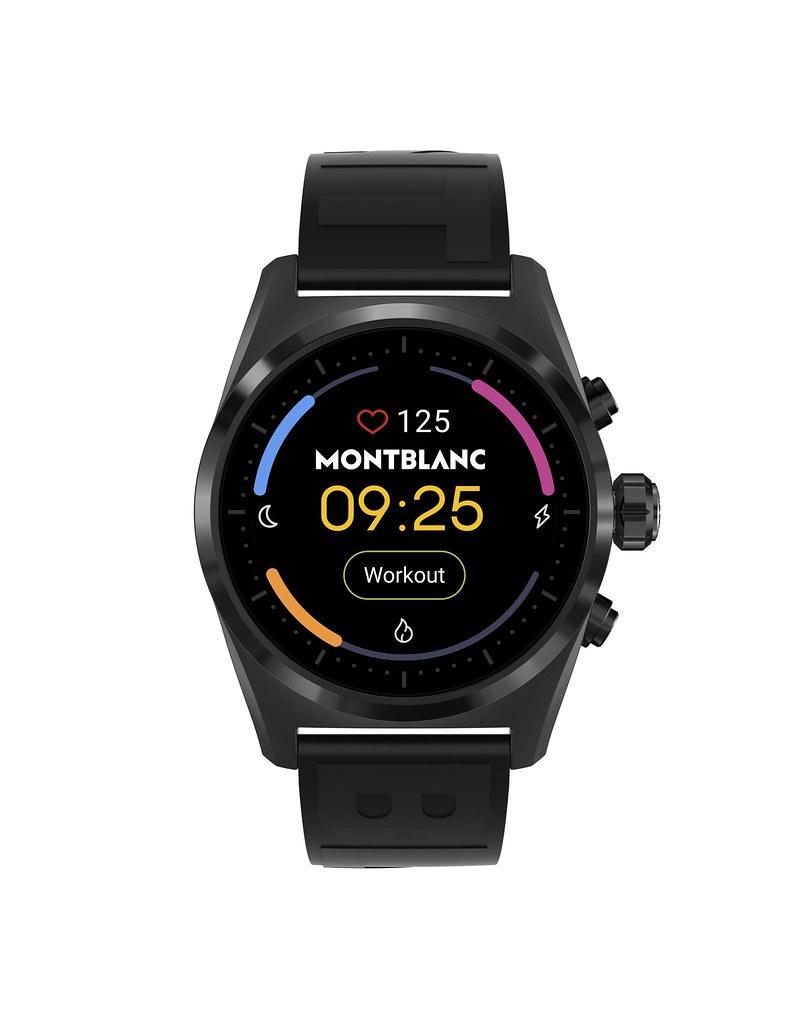 128408 萬寶龍Summit Lite智能腕錶_黑色鋁錶殼搭配黑色橡膠錶帶,NT$27,300