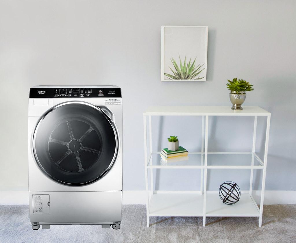 7-CHIMEI奇美輕柔淨美滾筒洗衣機,洗脫烘一機三用讓新的一年全家衣服清新潔淨迎好運。