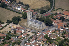 Photo of Worstead aerial image - St Mary's Church