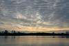 Altocumulus clouds over Gunwade Lake - Ferry Meadows, Nene Park, Peterborough, UK