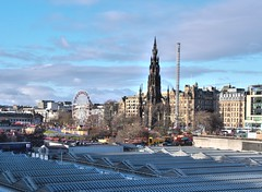 Photo of Over the station at Edinburgh