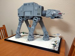 Not many college dorms have a giant Lego AT-AT in the living room, but we do :)