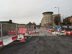 Photo of Tramworks on Constitution Street, Leith, January 2021