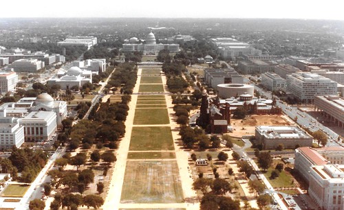 View of Capitol Building and Mall from Top of Washington Monument