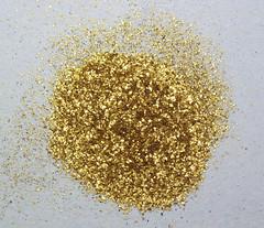 Placer gold flakes (Drava River, Murakeresztúr, Hungary)
