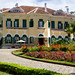 Bao Dai Königspalast Museum mit Garten, Cafe und Park an einem sonnigen Tag in Da Lat, Vietnam