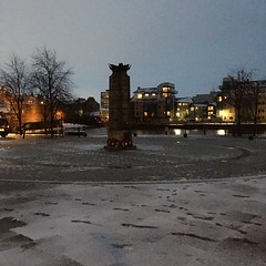 Photo of 7:45am   Snow turning to slush
