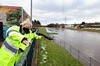 Boris Johnson visits Didsbury to view the Flooding