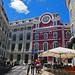 The Teatro da Trinidade and the streets of Chiado, Lisbon