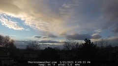 January 21, 2021 - Pretty skies to end the day. (ThorntonWeather.com)